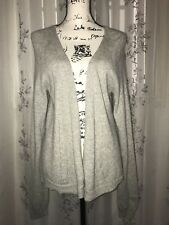 Gap 2-Ply 100% Cashmere Heather Gray Sweater Cardigan Long Sleeve Size XL