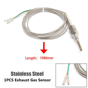 1/8NPT Automobile Exhaust Gas Temperature Sensor Cable Temp Gauge Probe Sensors