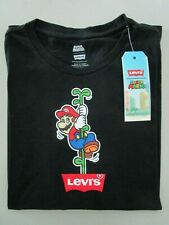 LEVI'S MEN'S SHORT SLEEVE LIMITED EDITION SUPER MARIO BROTHERS T-SHIRT BLACK