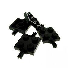 4x Lego System Achse schwarz 2x2 Achs Platte Halterung für Rad Radhalterung 4600