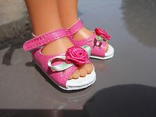 Chaussures rose fushia sandales pour poupée les chéries corolle camille clara