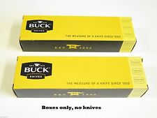 LOT of 2 BUCK 8.5 long KNIFE BOX FOLDING HUNTER RANGER 196 500 426 422 112 (41)