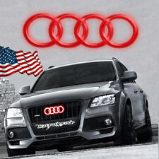 AUDI LED EMBLEM BADGE LIGHT FRONT CAR LOGO RINGS GRILL A3 A4 A5 A6 RED