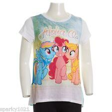 """My Little Pony Rainbow Dash,Pinkie Pie & Fluttershy """"Aloha Ponies"""" Tee S (7) NEW"""
