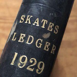Vintage Ledger 1929 Steel Co Order Book Stage Film Play Prop HandWritten Antique