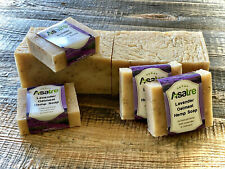Asatre Lavender Oatmeal Hemp with Goat Milk Handmade Soap Bar