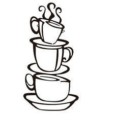 DIY Removable Home Kitchen Wall Decor Coffee House Decals Vinyl Wall Art Sticker