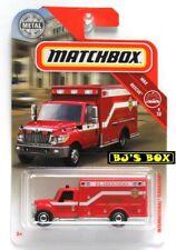 Matchbox 2018 INTERNATIONAL TERRASTAR #41 MBX Rescue 9/20 Ambulance Red New