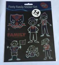 AFL Footy Family Sticker Set MELBOURNE DEMONS Stick Family Decals
