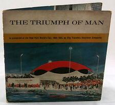 Triumph of Man 1964 New York World's Fair Red Vinyl 33 RPM Travelers Insurance