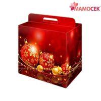 SCATOLA cartone CONFEZIONE natalizia cesto regalo Natale Panettone 28x20 h35