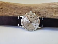 Muy raras década de 1960 EBEL inusual Gris CUADRANTE FECHA Reloj de hombre automático