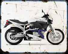 Buell X1W Lighting White 02 A4 Metal Sign Motorbike Vintage Aged