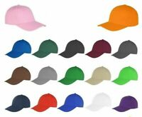 Mens Womens Plain Cotton Baseball Cap Adjustable Peak Sport Summer Printing Caps