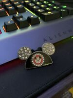 DISNEY WDW HAPPIEST CELEBRATION MICKEY EAR HAT JEWELED 2006 PIN WITH CRYSTALS