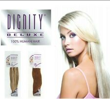 "Dignity Delux Human Hair Straight Euro 2 pc Clip-in 18"" Colour 613A Blonde Weft"