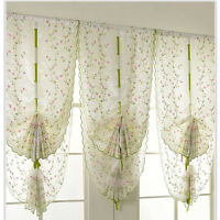 1X Window Kitchen Bathroom Lifting Roll Up Rome Curtain Screen Embroidered B uW