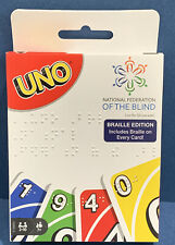 Brand NEW Mattel UNO Card Game Braille Edition National Federation of the Blind