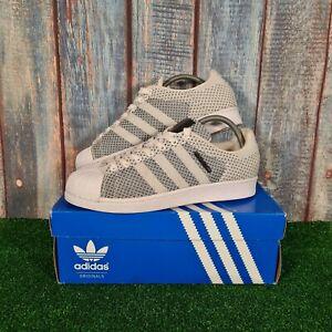 Adidas Superstar Weave Primeknit Trainers S79441 White/Black UK 8, EU 42, US 8.5