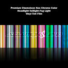 Gloss Neo Chrome Chameleon Color Headlight Taillight Fog Light Vinyl Tint Film <br/> US Seller Best Price and Quality - Color Change Wraps!