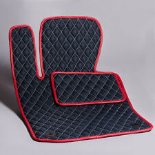 Luxury Black Bespoke Leather Car Floor Mats Fully Tailored fit Porsche Panamera