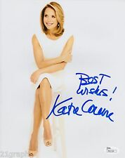 Katie Couric Signed 8x10 Photo w/ JSA COA #M93194 Today Show 60 Minutes