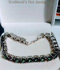 Estate Alexandrite  Tennis Bracelet 26ct.In Platinum Over