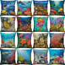 18'' Sea turtle Ocean Animal Pillow Case Cotton Linen Cushion Cover Home Decor