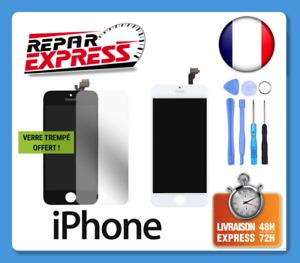 ECRAN POUR IPHONE VITRE TACTILE+LCD 4/5/5C/SE/5S/6/6S/7/8/X/XS PLUS NOIR BLANC