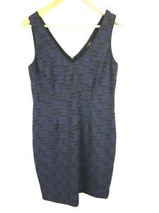 Lisa Barron designer stretch Sleeveless Blue/Purple and Black Dress size 16