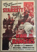 One Sheet Movie Poster 1943 Hail To the Rangers Charles Starret Texas Rangers