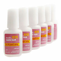 5PCS 10g Nail Art Glue With Brush On Strong Adhesive Fake Acrylic False Tips New