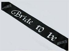 Bachelorette Party Bride To Be Sash Black Fun Bridal Shower Gift