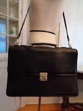DE BON Saddle River Collection 100% leather messenger bag briefcase NWOT