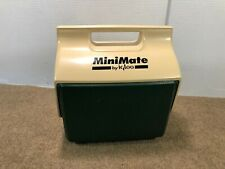 Vintage Igloo Playmate MiniMate Personal Cooler Dark Green and Tan