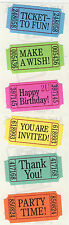 Mrs. Grossman's Stickers - Party Tickets - Party Time! Thank You! - 4 Strips