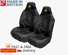 ABARTH CAR SEAT COVERS PROTECTORS SPORTS BUCKET HEAVYWEIGHT - FIAT 595C