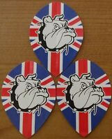 10 Set (10x3) Union Jack Bulldog Poly Metronic a Goccia Rigido Feccette