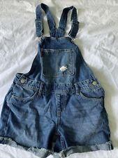 Levi's Distressed Denim Shortalls Overalls Shorts Summer Girl's Size 12 EUC