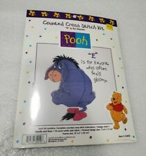 Disney Winnie the Pooh Counted Cross Stitch Kit E is for Eeyore #34010 NEW