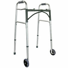 Affinity® Aluminium 2 Wheel Walking Frame Heavy Duty Height Adjustable Folding