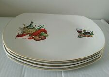 SET OF 4 HARRY HANCOCK FOOD PLATERS 1960s/70s LOVELY CONDITION & COLLECTABLE
