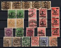 P135662/ GERMANY – YEARS 1921 - 1923 USED SEMI MODERN LOT – CV 147 $