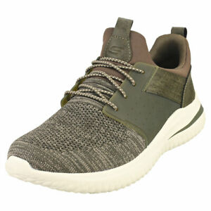 Skechers Delson 3.0 Cicada Mens Olive Casual Trainers - 13 US