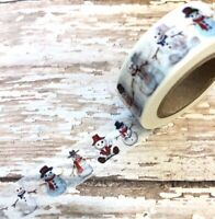 Snowman Washi Tape Papercraft Holiday X-Mas Cards Planner Supply DIY Crafts