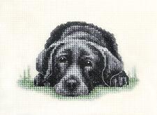 BLACK LABRADOR RETRIEVER dog, puppy Full counted cross stitch kit *Fido Stitch