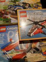 * Sealed New 3 sets- LEGO Creator 31076 Stunt Plane, 31075 Outback, 31057 Blazer