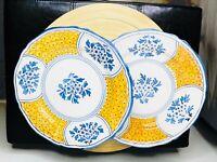 """Italian Deruta Made For Gump's 11"""" Dinner Plates (2)"""