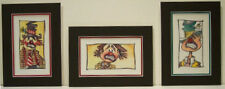"Sad Tramp Clowns by Bill Crowley limited giclee watercolors 3  -  5"" x 7"" matted"