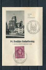 BRD Mi.-Nr. 117 gestempelt auf Karte 74. Deutscher Katholikentag - b1530